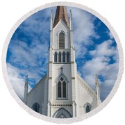 Church Of Assumption Round Beach Towel