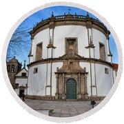 Church Of Monastery Of Serra Do Pilar In Portugal Round Beach Towel