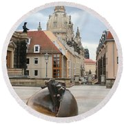Church Of Our Lady - Dresden - Germany Round Beach Towel