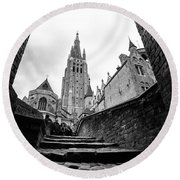 Church Of Our Lady Round Beach Towel