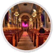 Church Of Saint Louis Round Beach Towel