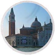 Church Of San Giorgio Maggiore Round Beach Towel