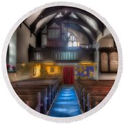 Church Of St Mary Round Beach Towel by Adrian Evans
