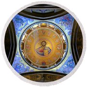 Church Of The Holy Sepulchre Catholicon Round Beach Towel
