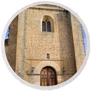 Church Of The Holy Spirit In Spain Round Beach Towel