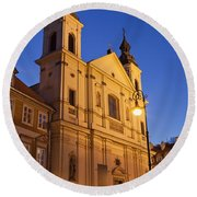 Church Of The Holy Spirit In Warsaw Round Beach Towel