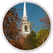 Church Of The Redeemer  From The Lexington Battlefield Round Beach Towel