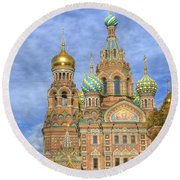 Church Of The Saviour On Spilled Blood. St. Petersburg. Russia Round Beach Towel by Juli Scalzi