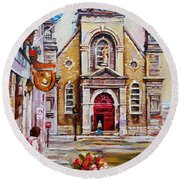 Church On Sunday Round Beach Towel