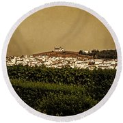 Church On The Hill - Andalusia Round Beach Towel