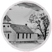 Church On The Plains Round Beach Towel