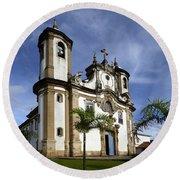 Church Ouro Preto Brazil 5 Round Beach Towel