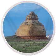 Church Rock On The Road To Moab Round Beach Towel