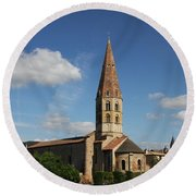 Church Saint Marcel - Cluny Round Beach Towel