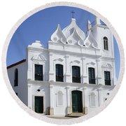 Church Sao Luis Brazil Round Beach Towel
