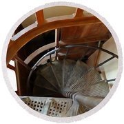 Church Stairs Round Beach Towel