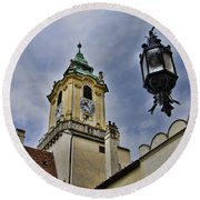 Church Steeple - Bratislava Slovakia Round Beach Towel