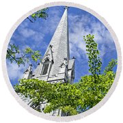 Church Steeple Round Beach Towel