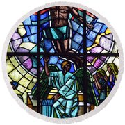 Church Window Round Beach Towel by Tommytechno Sweden