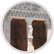 Churchdoor - Saint Peter - Macon Round Beach Towel
