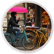 Ciclista - Milano Round Beach Towel