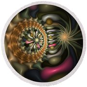 Cicular Logic Overwhelmed Round Beach Towel