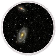 Cigar Galaxy And Bodes Galaxy Round Beach Towel