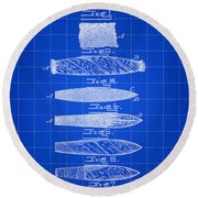 Cigar Patent 1887 - Blue Round Beach Towel