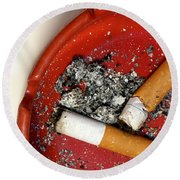 Cigarette Butts Round Beach Towel