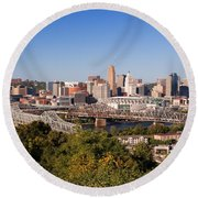 Cincinnati, Ohio Round Beach Towel