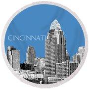Cincinnati Skyline 1 - Slate Round Beach Towel
