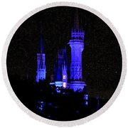 Cinderellas Night Round Beach Towel