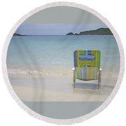 Cinnamon Beach Round Beach Towel