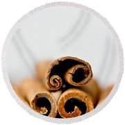 Cinnamons And Clove Round Beach Towel