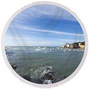 Cinque Terre And The Sea Round Beach Towel
