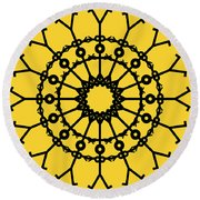 Circle 2 Icon Round Beach Towel by Thisisnotme