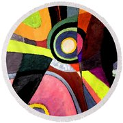 Circle Abstract #4 Round Beach Towel