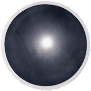 Circle Around The Sun Round Beach Towel
