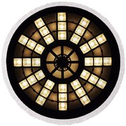 Circle In A Square Round Beach Towel by Rona Black