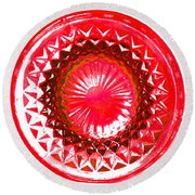 Circle Red Round Beach Towel
