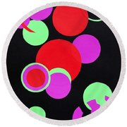 Circle Study One Round Beach Towel