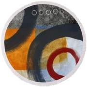 Circles 3 Round Beach Towel