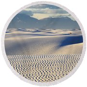 Circles In The Sand Round Beach Towel