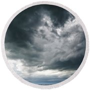 Circling Clouds Round Beach Towel