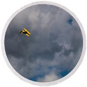 Circling For 2nd Flyover Round Beach Towel