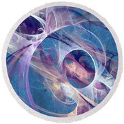 Circling The Divine Round Beach Towel