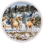 Circling The Wagons Round Beach Towel