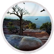 Circling Vultures Round Beach Towel