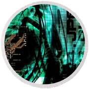 Circuit Board Round Beach Towel