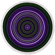 Circular Concentric Stripes In Multiple Colors Round Beach Towel